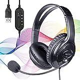 SOONALL Computer-Headset mit Mikrofon,...
