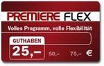 Premiere Flex 25 Euro Gutschein