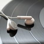 Kopfhörer und Platte