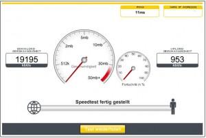 Speedtest bei Kabel Deutschland