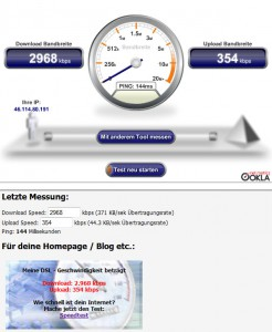 DSL Speed Messung