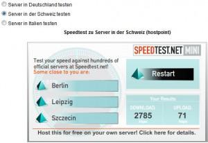 Internet-Geschwindigkeit messen - Speedtest.net Mini