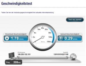 Internet-Geschwindigkeitstest von Unitymedia