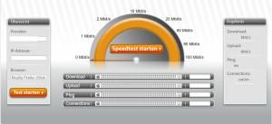Internet-Geschwindigkeit mit Speedmeter testen