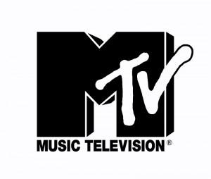 Logo von MTV in Schwarz