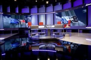 Studio der Sport-Sendung Sky 90