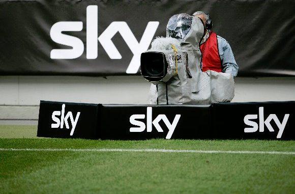 Sky im Fußballstadion