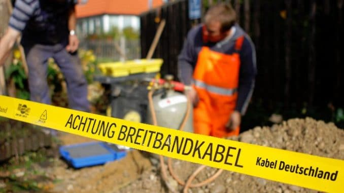Bauarbeiten durch Kabel Deutschland