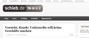 Unitymedia Probleme - schieb.de