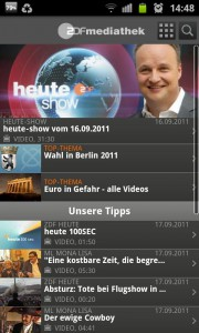 Screenshot aus ZDFmediathek