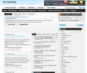 Kabel-Blog.de vor der Umstellung