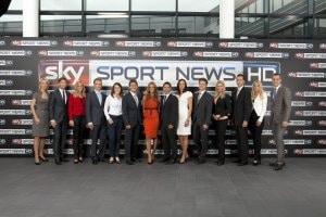 Gruppenfoto Moderatoren Sky Sport News HD