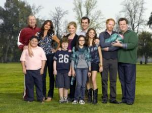 Gruppenbild zur 1. Staffel der Serie Modern Family