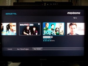 Screenshot VideoWeb TV - Maxdome