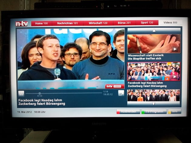 Videos von n-tv bei VideoWeb TV (Screenshot)