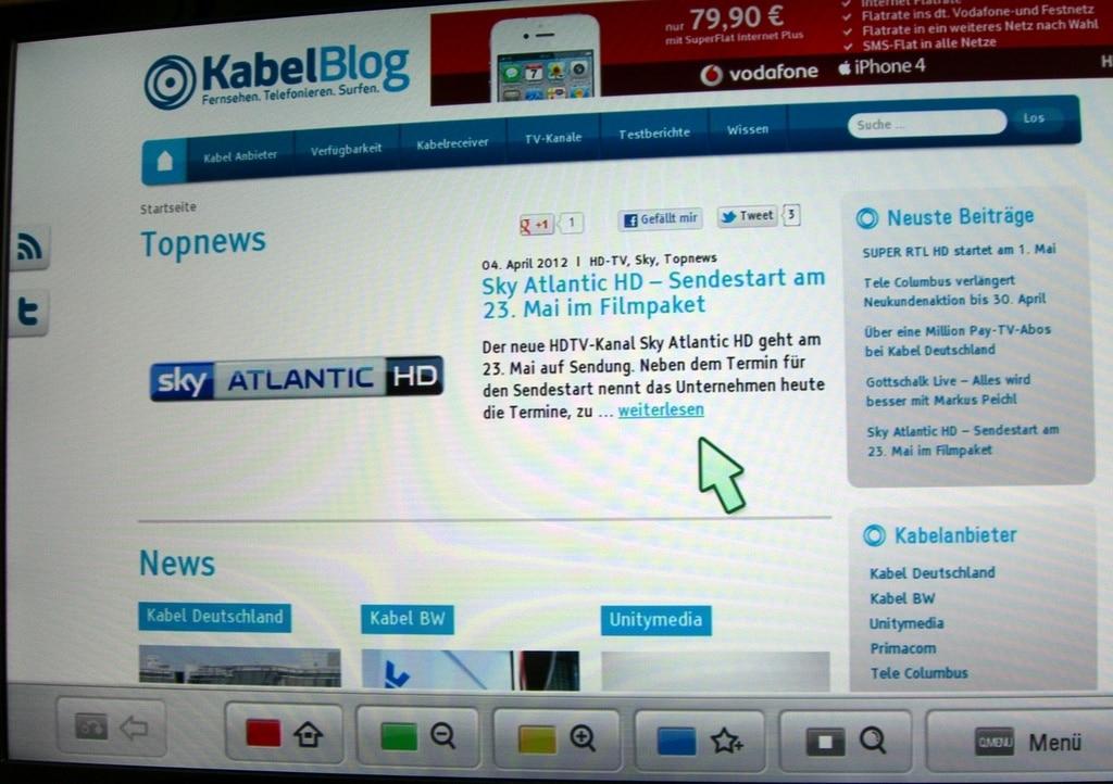kabel-blog-webseite-auf-lg-fernseher