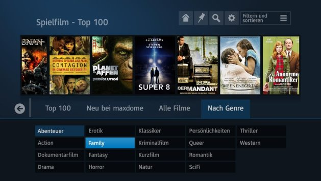Maxdome auf der PlayStation 3