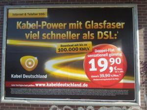 Werbeplakat von Kabel Deutschland