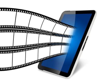 Tablet mit Filmstreifen