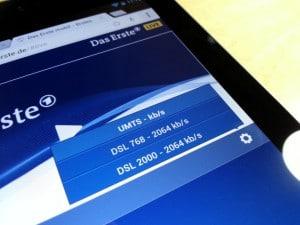 Verfügbare Internet-Bandbreite auswählen