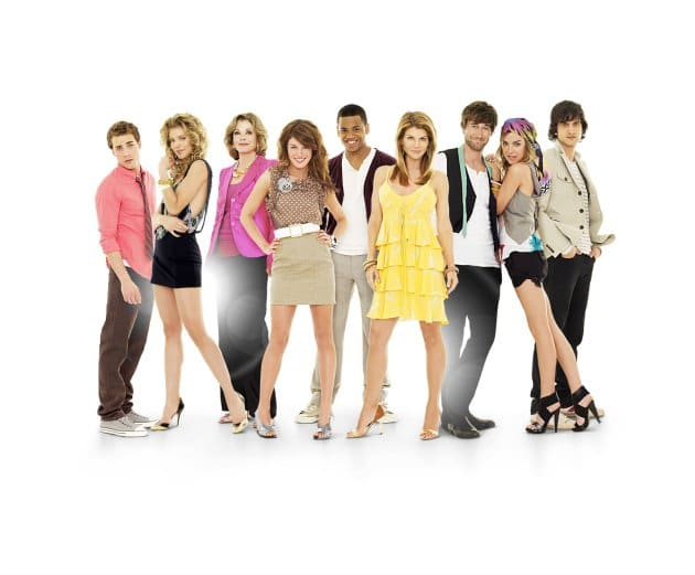 "Gruppenbild Serie ""90210"" 