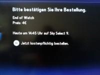Screenshot Sky Select: Bestätigung ist nötig