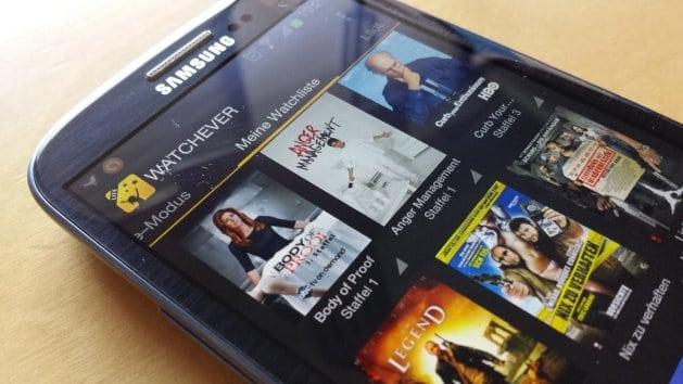WATCHEVER LITE auf einem Android-Smartphone