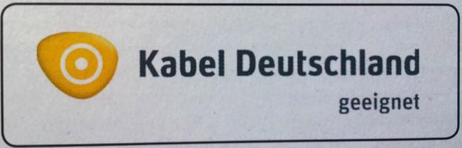 Zertifizierungslogo Kabel Deutschland