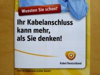 Mit solchen Faltblättern wirbt Kabel Deutschland | Foto: Redaktion