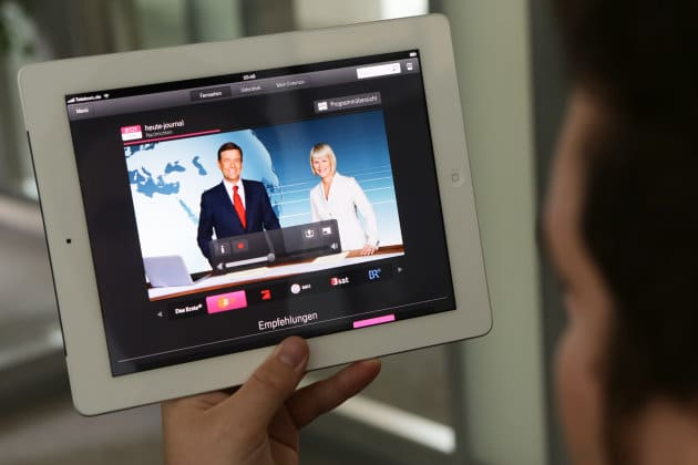 Entertain to go auf dem iPad | Grafik: Deutsche Telekom