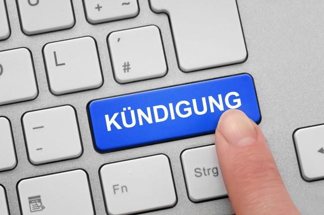 Tastatur mit Kündigung © Photo-K - Fotolia.com
