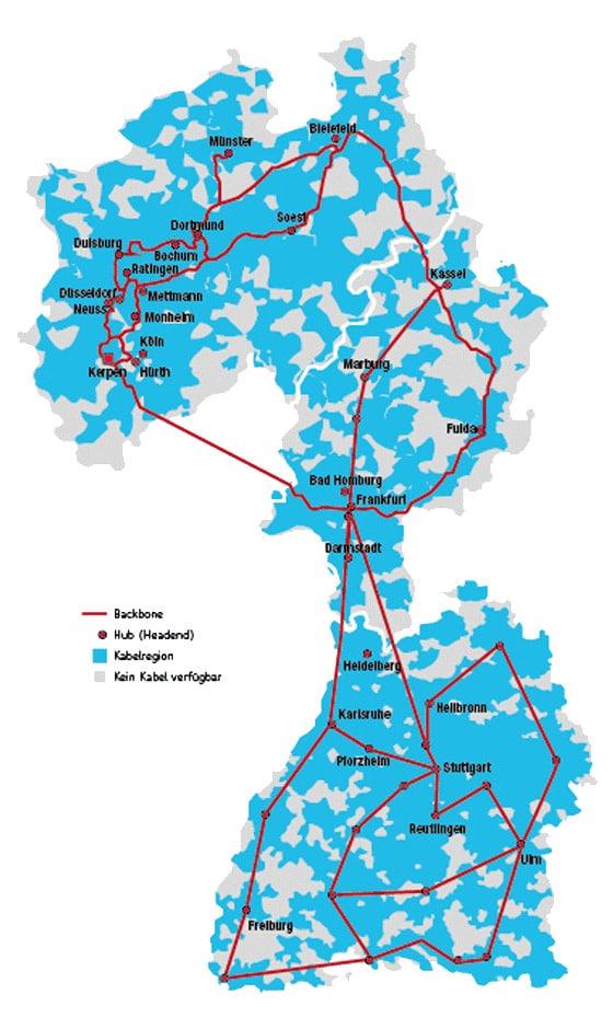 UMKBW Netz Karte