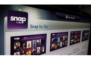 Schrägansicht auf die App von Snap auf dem Fernseher | Foto: Redaktion