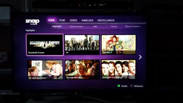 Snap auf einem Samsung Smart TV | Bild: Redaktion