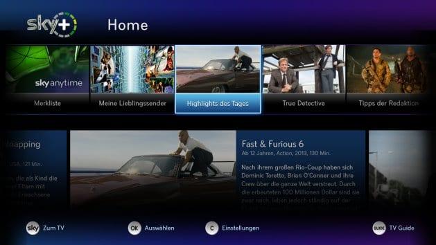 Sky Home | Bild: Sky Deutschland via E-Mail