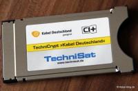 CI-Modul mit eingeschobener Smartcard