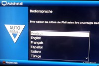 AutoInstall: Auswahl der Sprache