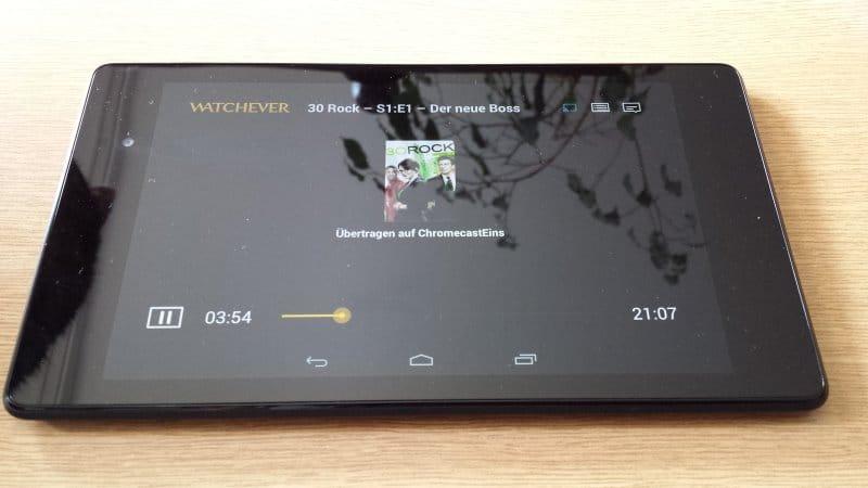 Die Steuerung erfolgt über die App auf dem mobilen Endgerät. Hier kommt ein Nexus 7 (2013) mit Android OS zum Einsatz | Foto: Redaktion