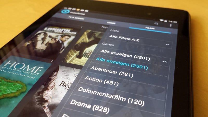 maxdome auf Nexus 7 | Foto: Redaktion