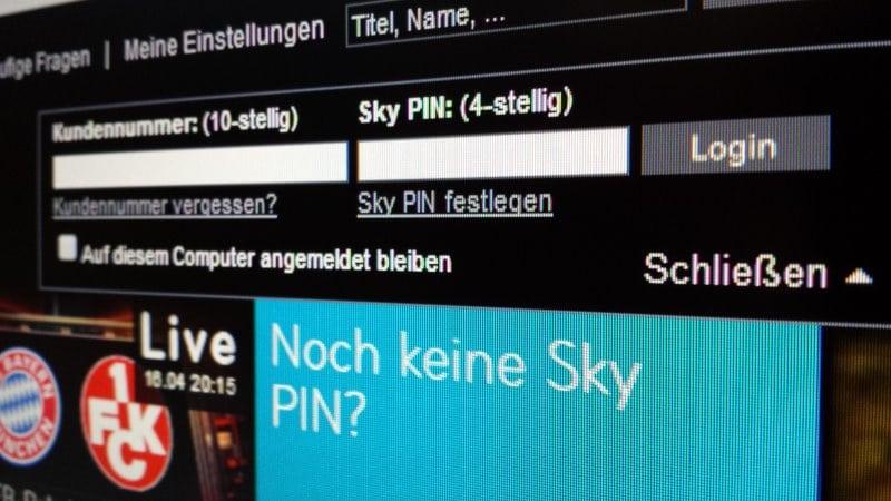 Blick auf den Monitor: Login bei Sky Go | Foto: Redaktion
