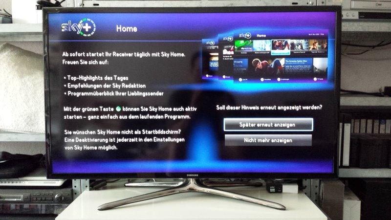 Kundeninformation zur Einführung von Sky Home | Foto: Redaktion