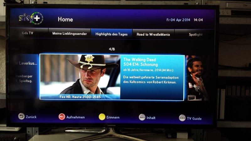 Programminfos bei Sky Home | Foto: Redaktion