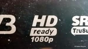 "Das ""HD ready"" Logo an einem Fernseher"