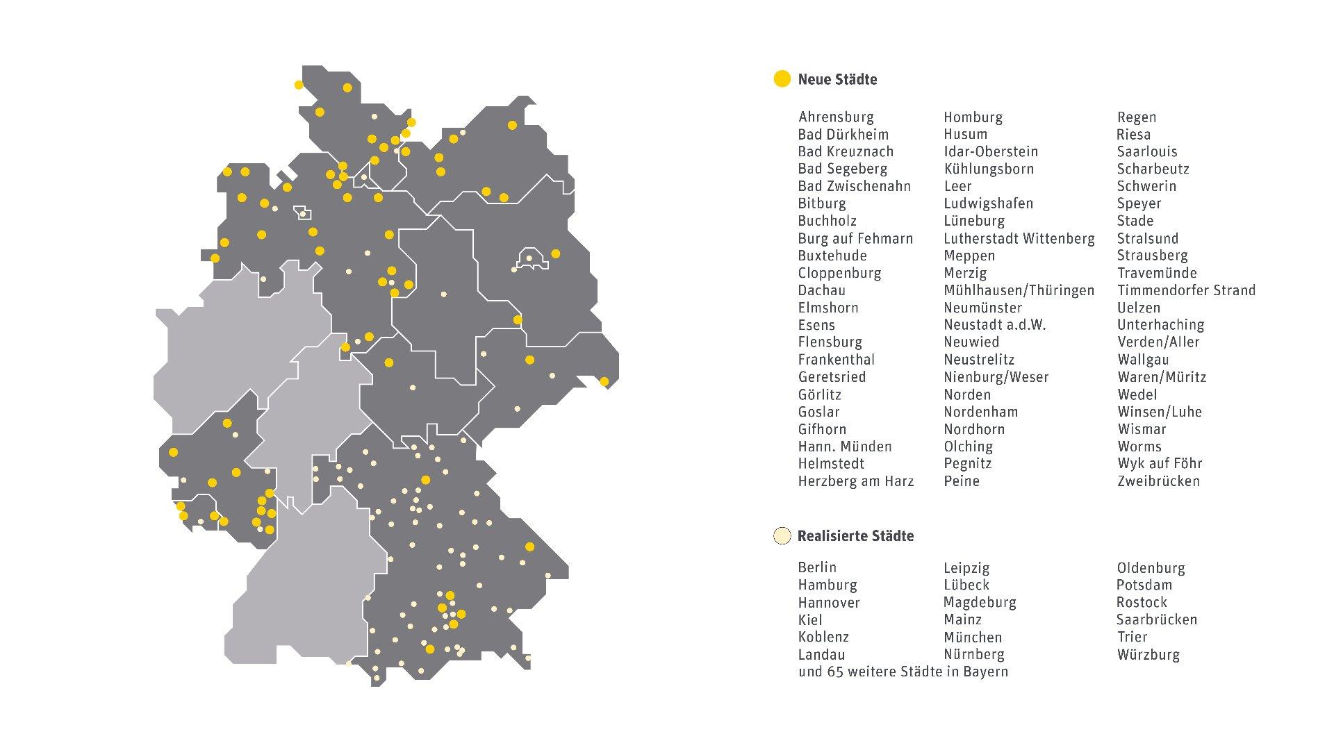 WLAN Städte Kabel Deutschland (Mai 2014) | Grafik via Schwartz PR