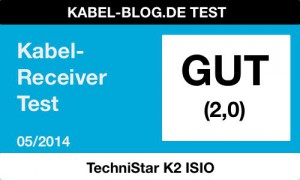 Award: Note 2,0 Technistar K2 ISIO