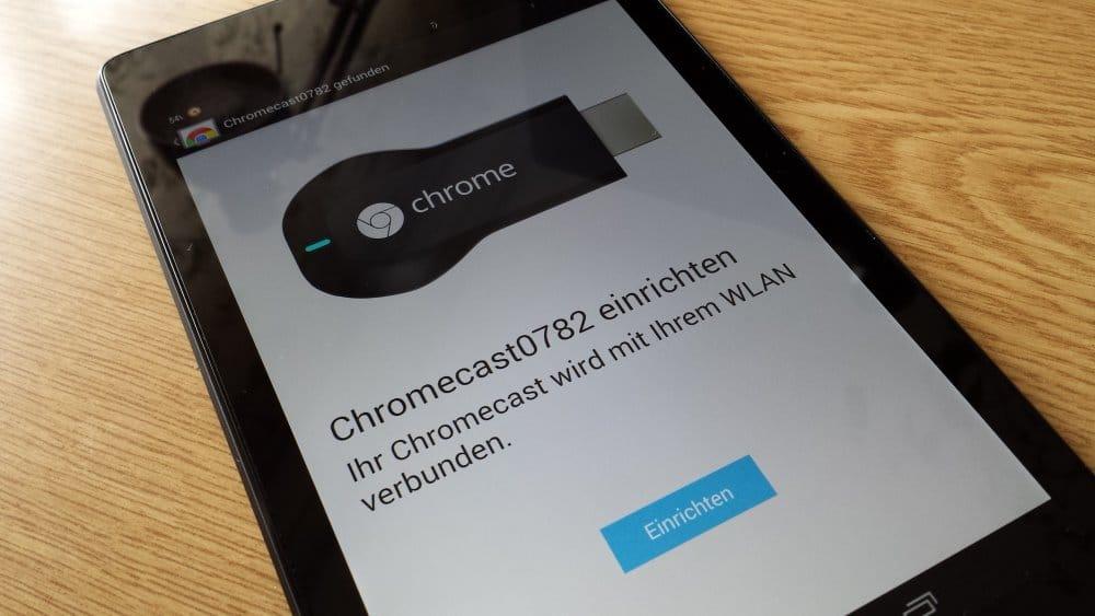 Verbindung zwischen Tablet und Chromecast herstellen | Foto: Redaktion