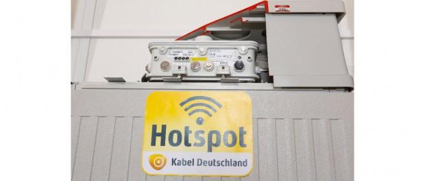 WLAN-Hotspot von Kabel Deutschland: Technischer Aufriss einer WLAN-Haube auf Verteilerkasten. | Bild: Kabel Deutschland