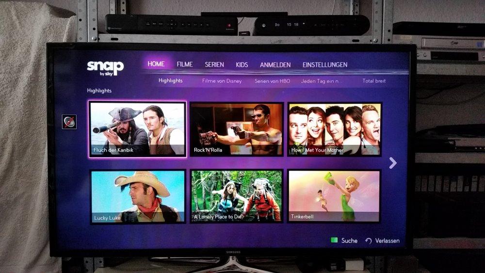 Smart TV App von Snap auf Fernseher | Foto: Redaktion