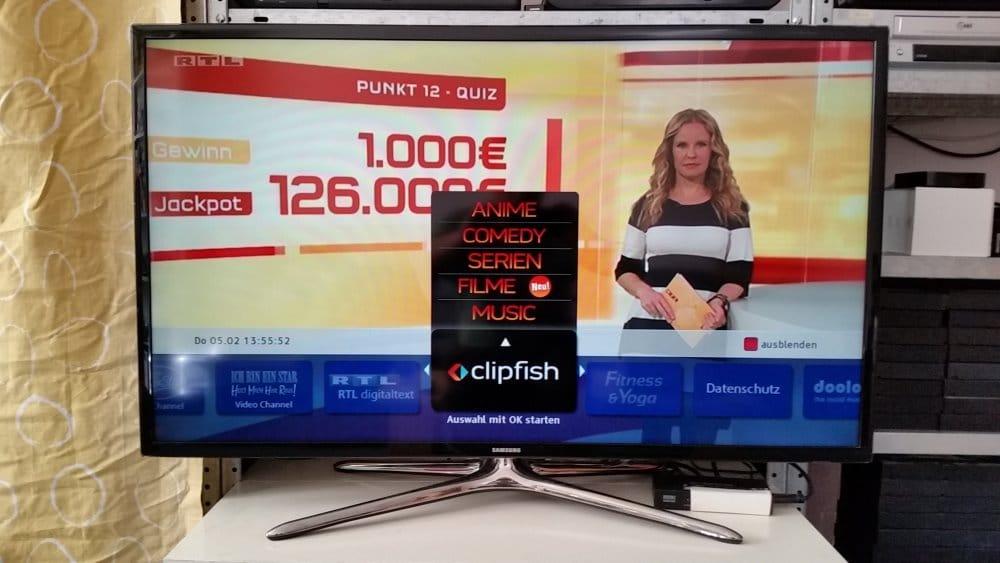 Menü über TV-Programm von RTL | Foto: Redaktion