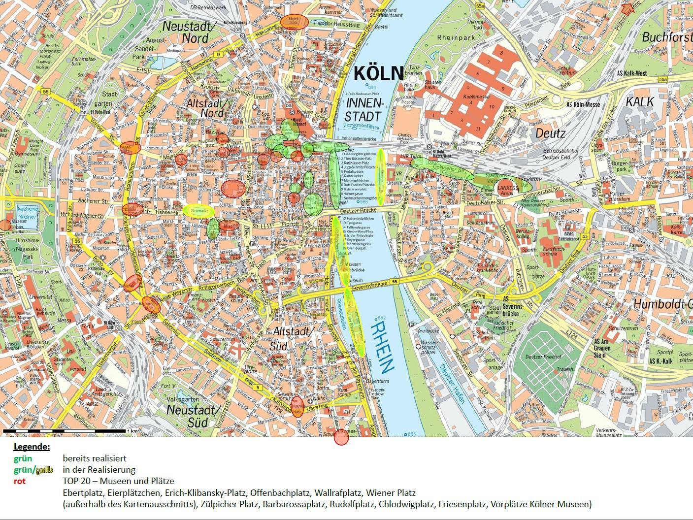 Geplante Erweiterung der WLAN-Netzes | Grafik: NetCologne